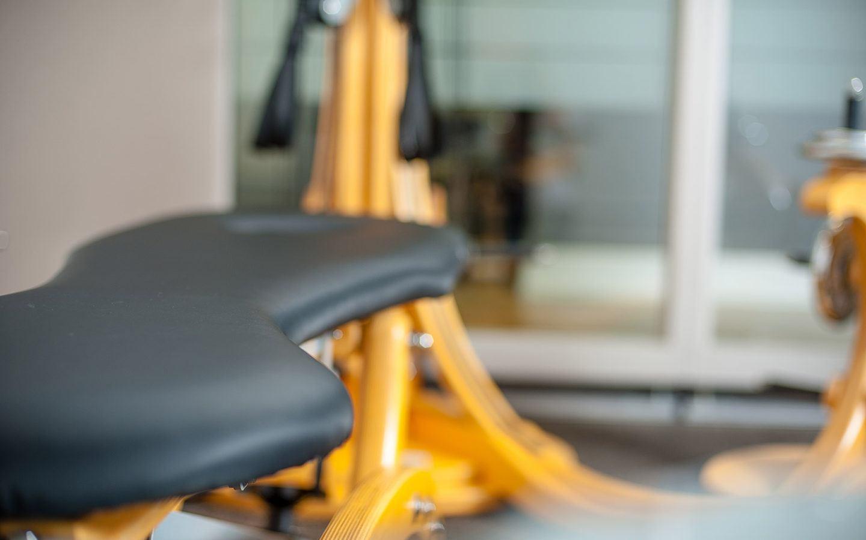 close up of GYROTONIC machine seat